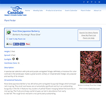 Canadale Nurseries Plant Finder