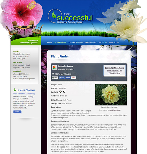 NetPS Plant Finder Plant Information Page